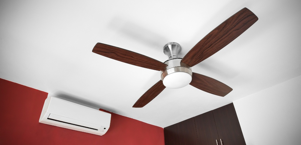 Ceiling Fan and Air Conditioner in Home